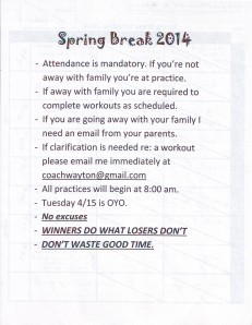 Spring Break r and r